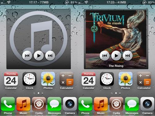 musicwidget Cydia : Music Widget (for Dashboard X) passe en version 1.1