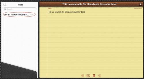 notes Les développeurs peuvent tester le nouveau iCloud