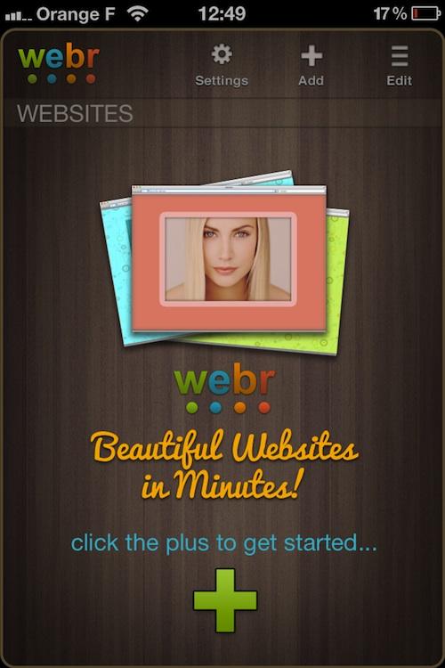webr1 Webr, créez votre site web sur iPhone