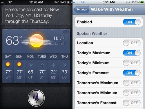 www Cydia : Wake With Weather passe en version 2.1.0 1