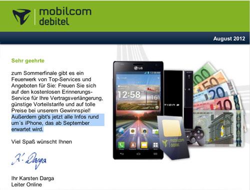 allemagne iphne 5 new1 Un opérateur allemand annonce le nouvel iPhone pour septembre
