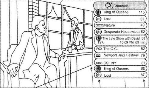 apple tv itv interface Le brevet Apple de 2006 sur la télévision est enfin accepté