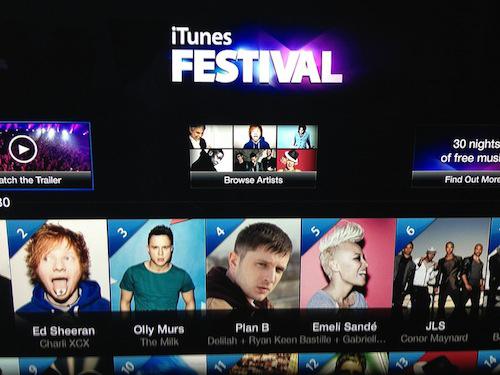 itunes festival apple tv Suivez liTunes Festival sur votre Apple TV