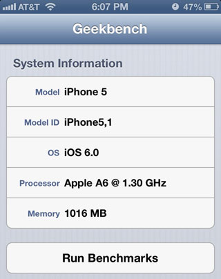 A6perfor iPhone 5 : A6 à 1,3 GHz et overclocking dynamique
