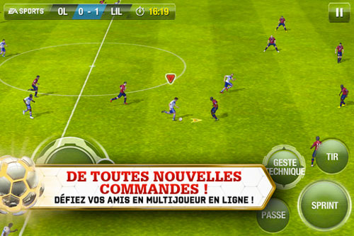 FIFA132 FIFA 13 disponible sur lApp Store