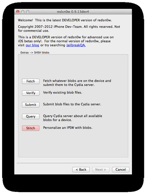 Redsn0w Stitch Downgrade iOS 6 vers iOS 5.1.1 avec Redsn0w et TinyUmbrella [TUTO]