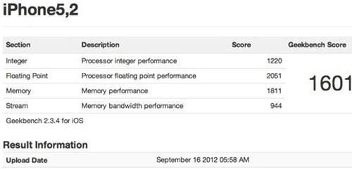 geekbench iPhone 5 : Des résultats Geekbench surprenants