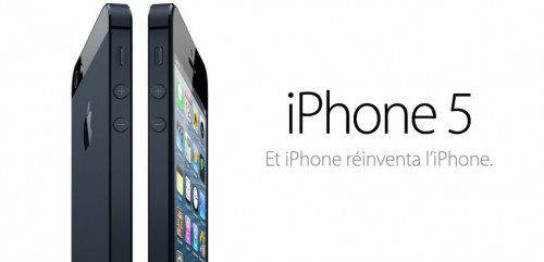 iPhone51 500x241 Le bilan du keynote : iPhone 5, iOS 6, iPod et iTunes 11 [MAJ]
