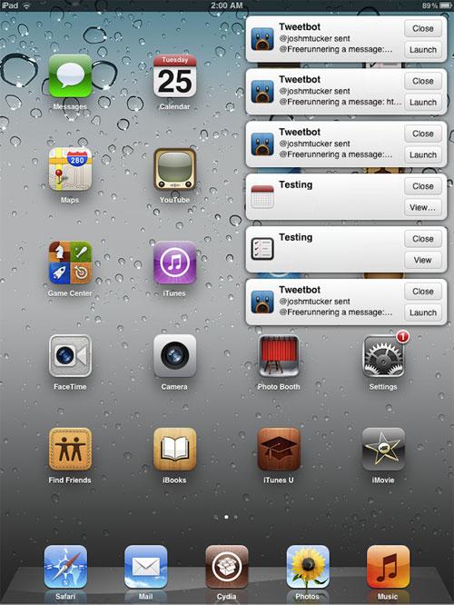 ipademblem Cydia : Emblem réinvente les notifications sur iPad