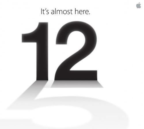 iphone 2012 media invite La Keynote du 12 septembre est confirmée