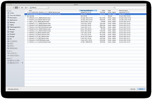 itunes restaure ipsw Downgrade iOS 6 vers iOS 5.1.1 avec Redsn0w et TinyUmbrella [TUTO]