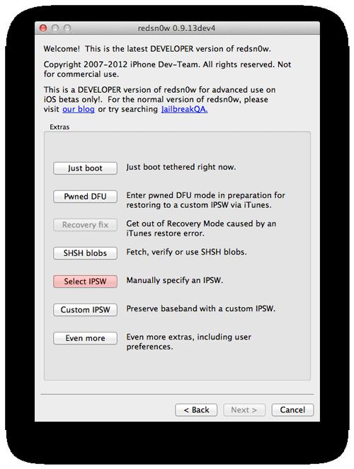 jailbreak ios 6 011 Tutoriel : jailbreak tethered iOS 6 avec Redsn0w