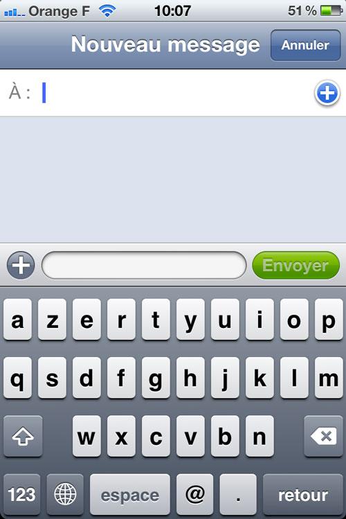 message La faille SMS nest plus dans liOS 6