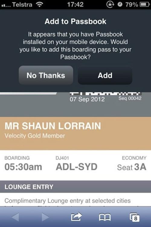 passbook Lapplication Passbook se dévoile en Australie
