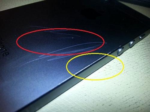 rayures iPhone 5 : un dos sensible aux rayures