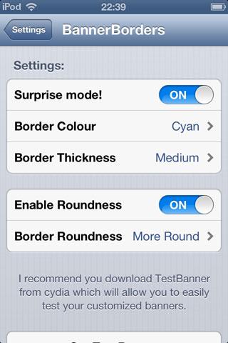ban Cydia : BannerBorders personnalise les bannières de notification