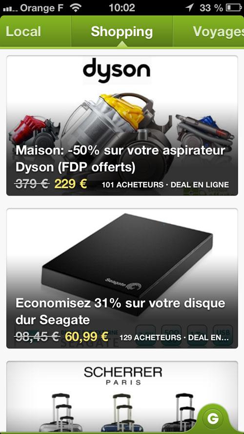 groupon Groupon améliore la qualité des détails sur iPhone 5