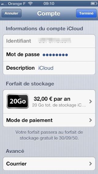 icloud1 Loffre iCloud expire en 2050