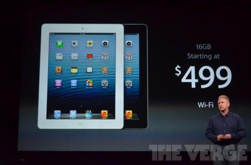 ipadmini 0494 500x330 Le bilan du keynote : iPad Mini, iPad 4ème génération et iMac