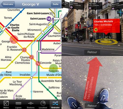 metro Lapplication Métros Paris compatible avec liPhone 5