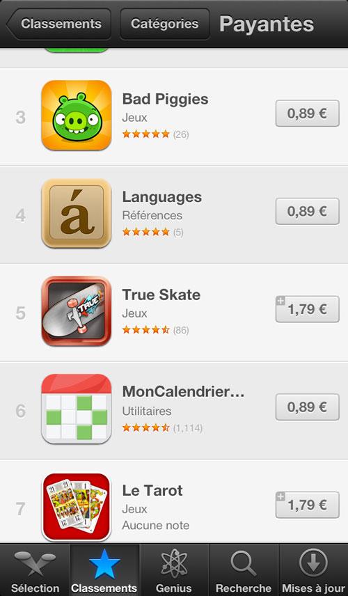 prix app Les applications de lApp Store désormais à 0,89€