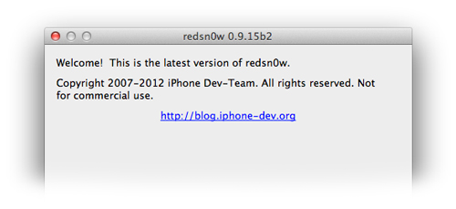 redsn0w 0 9 15 b2 Redsn0w mis à jour en version 0.9.15b2