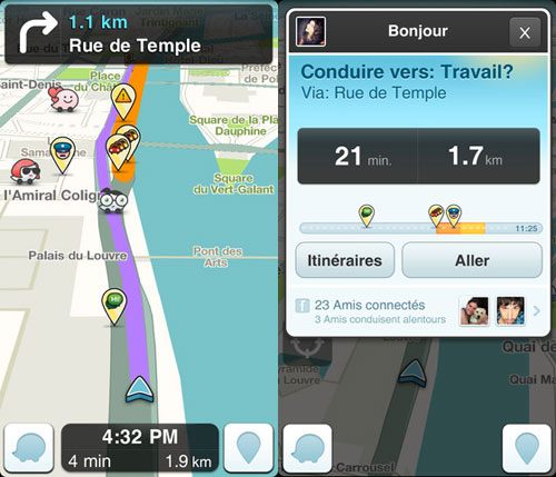 le gps gratuit waze se met jour pour ios 6 appsystem. Black Bedroom Furniture Sets. Home Design Ideas