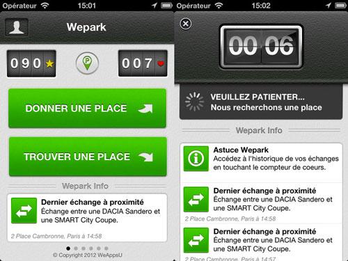 wepark LApp Gratuite du jour : Wepark