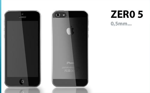 zero5 ZERO 5 : La coque iPhone 5 qui fait 0.5 mm dépaisseur [ENFIN DISPO]