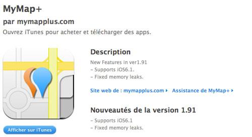 MyMpa+ Une première application compatible avec liOS 6.1
