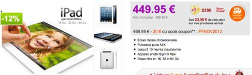 Priceminister Le nouvel iPad 4 en promotion chez PriceMinister