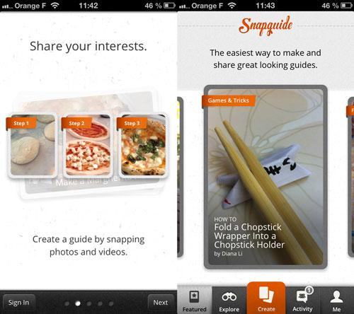 Snapguide1 LApp gratuite du jour : Snapguide