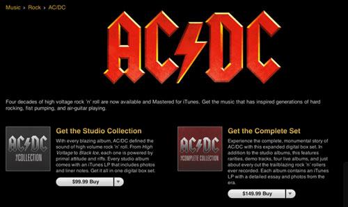 acdc AC/DC enfin disponible sur liTunes Store