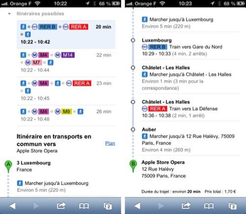 google map ratp Les itinéraires de la RATP avec Google Maps