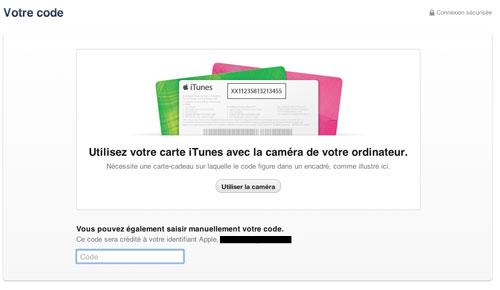 itunes1 iTunes 11 : scannez les cartes cadeaux avec votre webcam
