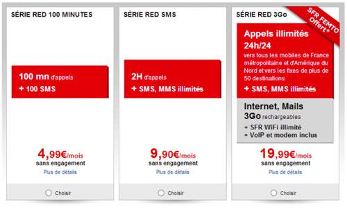 sfer SFR RED présente un nouveau forfait low cost