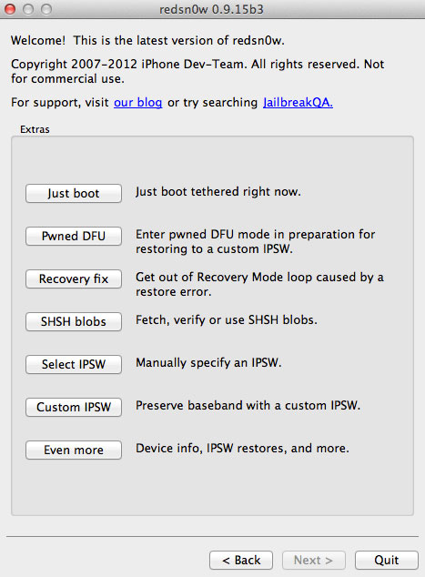 RS1 Comment jailbreaker liOS 6.1 bêta 3 en tethered