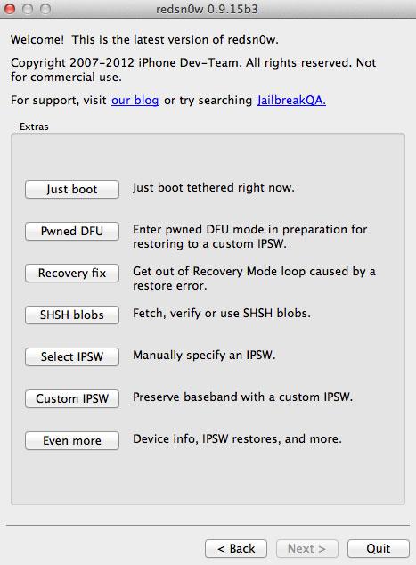 RS1 [TUTO] Jailbreak tethered iOS 6.1 avec Redsn0w