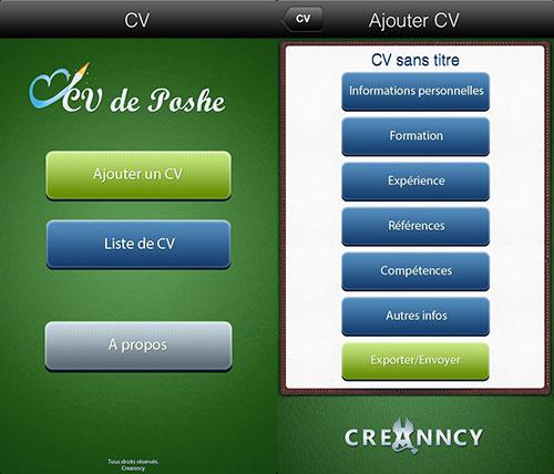 l u0026 39 app gratuite du jour   cv de poche