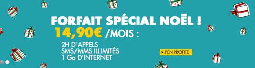 sosh Sosh : un forfait spécial Noël à 14,90€