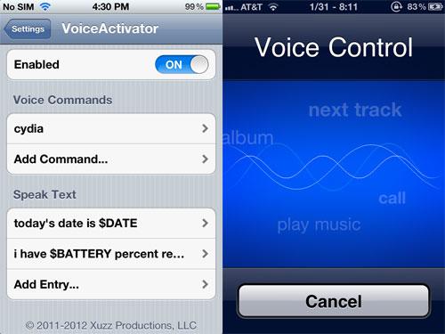 voiceactivator Cydia : VoiceActivator passe en version 1.2 1