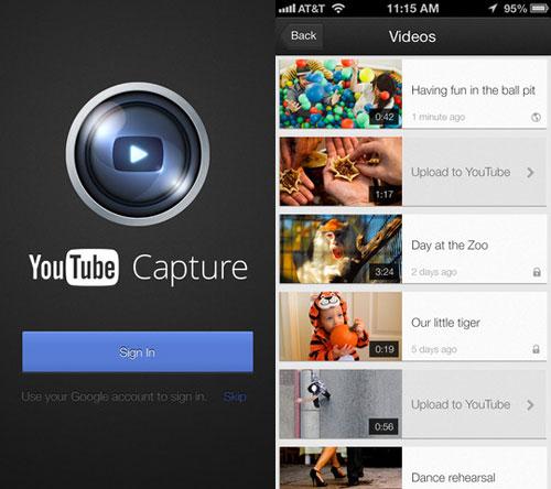 youtube1 Youtube Capture facilite la mise en ligne de vidéos