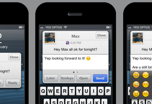 Quick Reply 4 Viber Léquipe biteSMS publie un nouveau tweak : QR4Viber