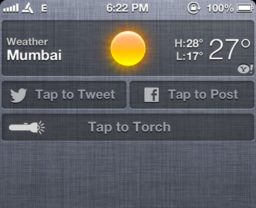 TroshNC Cydia Tweak Cydia : TorchNC, allumez la torche depuis le centre de notification
