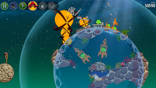 angry Les Angry Birds Space plongent dans leau