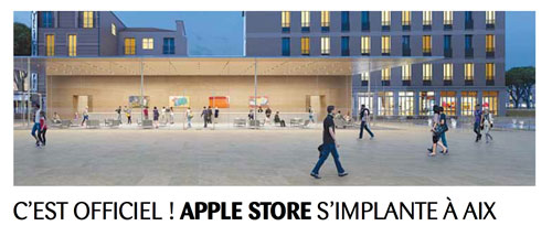 apple store les travaux sur aix en provence avancent bien appsystem. Black Bedroom Furniture Sets. Home Design Ideas