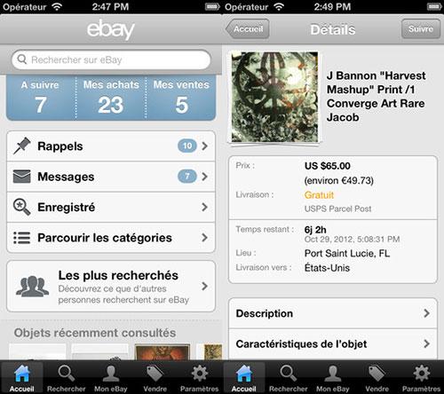 ebay facilite la mise en vente depuis son app ios appsystem. Black Bedroom Furniture Sets. Home Design Ideas