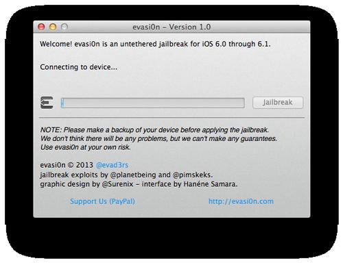 evasi0n jailbreak2 [TUTO] evasi0n : Jailbreak Untethered iOS 6.x pour iPhone 5 et plus