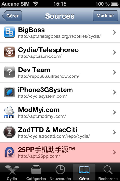 25PP source cydia [TUTO] Comment installer et se servir de 25PP ?