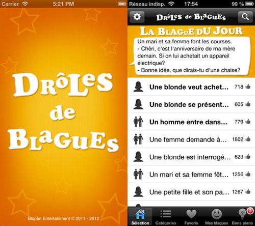 L App Gratuite Du Jour Droles De Blagues Appsystem